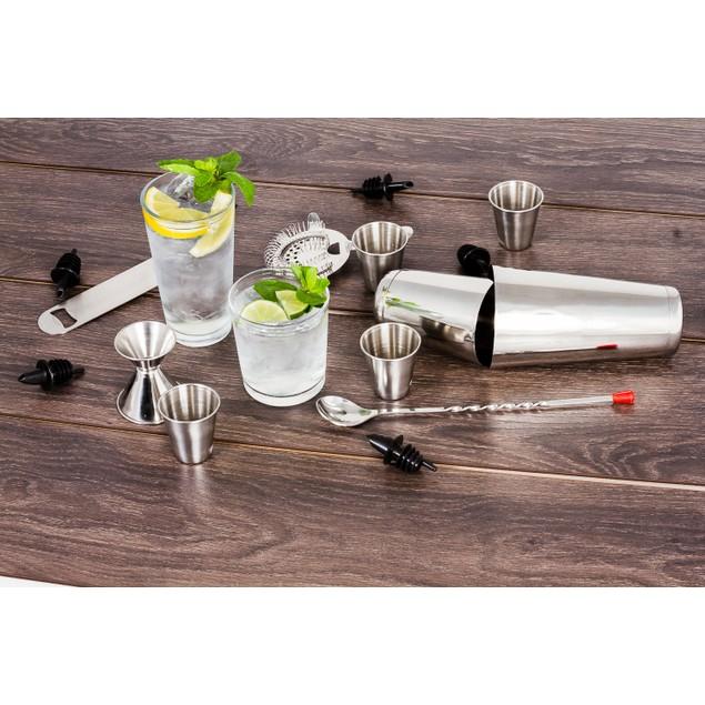 Stainless Steel 16 Pcs. Cocktail Shaker Set Complete Professional Bar Set