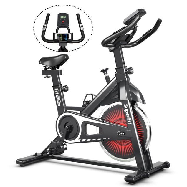 SuperFit Adjustable Indoor Exercise Cycling Bike