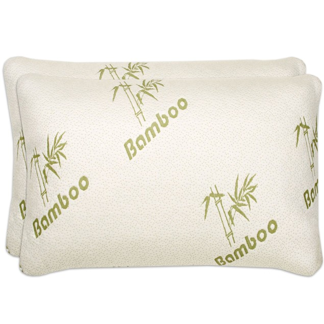 2-Pack Bamboo Memory Foam Pillows