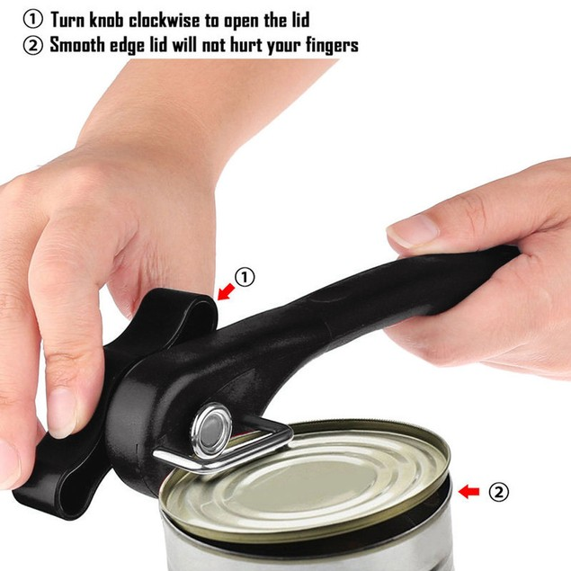 New Multifunction Stainless Steel Safety Side Cut Manual Can Tin Opener