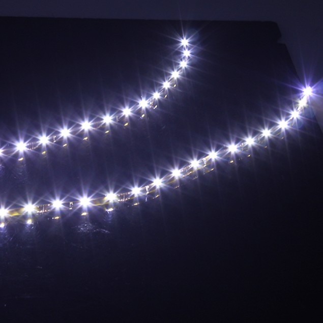 "LED WHITE 2X 24"" SIDE SHINE STRIP 36 SMD FOG DRL HEAD SLIM LIGHT"