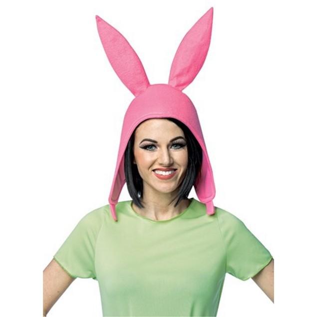 Louise Deluxe Hat Bob's Burgers Bunny Ears Pink Costume TV Show Fun Cartoon