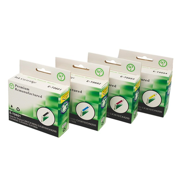 Epson T060 Remanufactured Ink - 4 pack (High Yield)