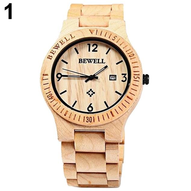 Men's Maple Wooden Handmade Quartz Wrist Watch