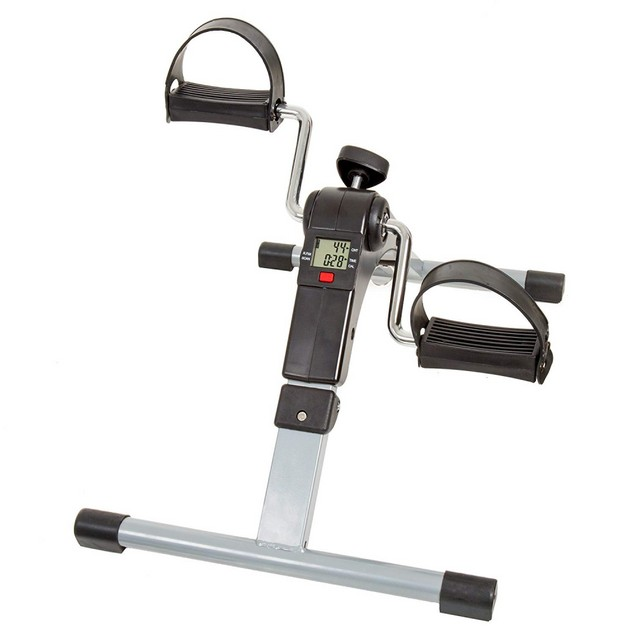 Portable Folding Fitness Pedal Stationary Under Desk Indoor Exercise
