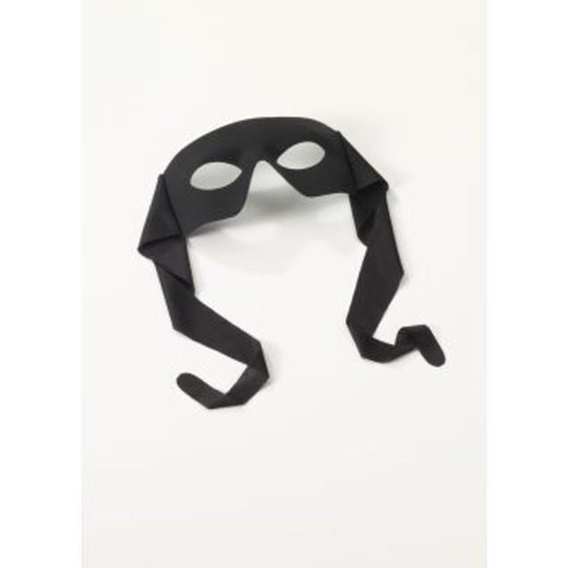 Black Large Masked Man With Ties Eyemask Zorro Bandit Lone Ranger Costume