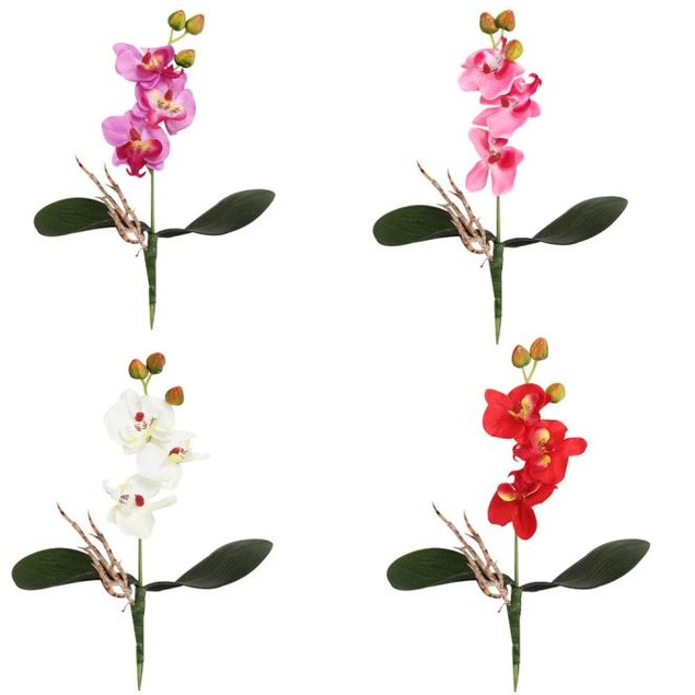 3pc Triple Head Artificial Butterfly Orchid Silk Flower Home Wedding Decor