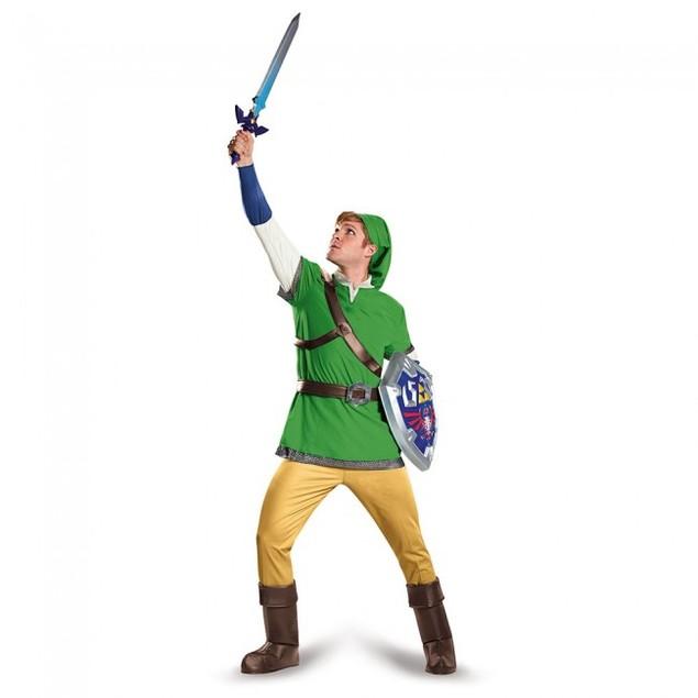 Link Legend Of Zelda Deluxe Adult Costume Legend Of Zelda Nintendo Video