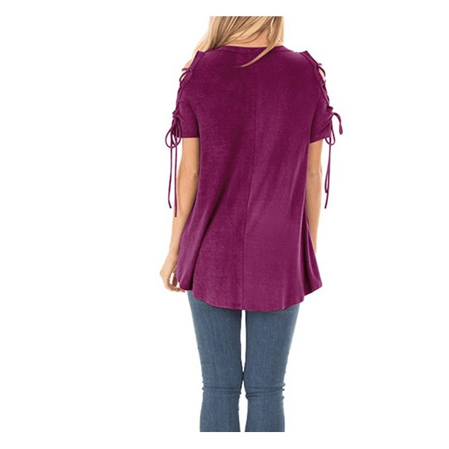Criss Cross Shoulder Blouse