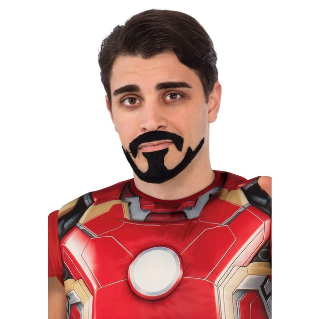 Iron Man Tony Stark Moustache And Goatee Avengers Facial Hair Accessory