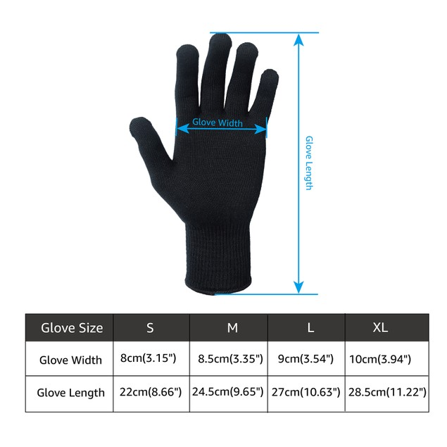 EvridWear Silk Knit Gloves ECO-Friend Liner Anti-UV Hypoallergenic