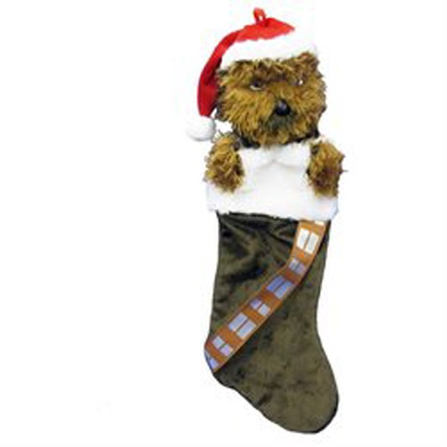 "Star Wars Chewbacca Stocking Christmas Hanging Holiday X-Mas Chewie Fur 18"""