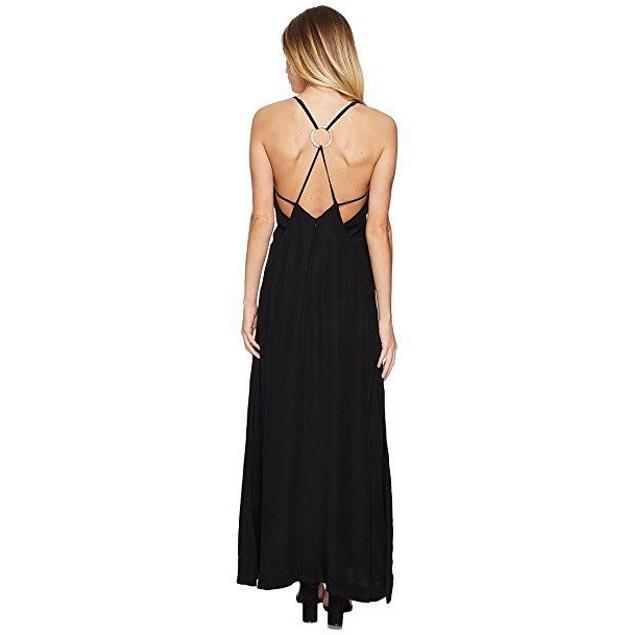 KEEPSAKE THE LABEL Women's Two Minds Maxi Dress Black Dress SZ L