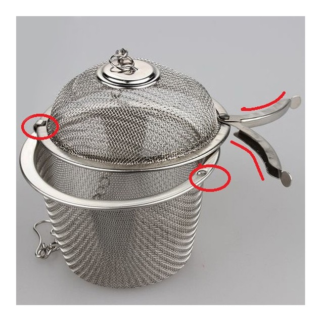 6.5cm Stainless Steel Flavor Ball Strainer Soup Tea