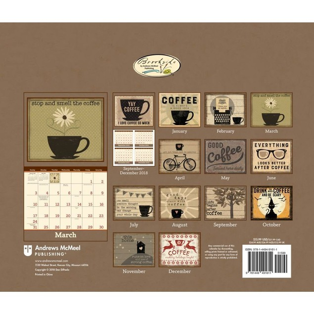 Coffee Wall Calendar, Coffee & Tea by Lang Companies