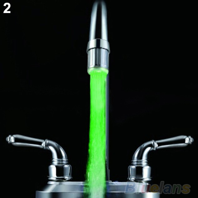 Temperature Sensor LED Light Water Faucet 3 Color RGB Shower