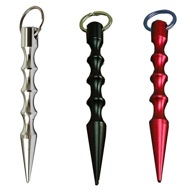 Light Weight Aluminum Self-defence Pointed Tactical Keyring Keychain