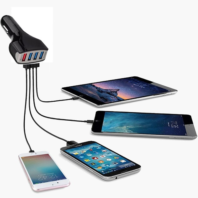 Qualcomm Certified QC3.0 Quick Charge with Four USB Ports