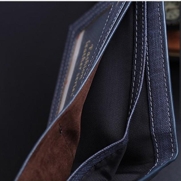 Men Leather Card Cash Receipt Holder Organizer Bifold Wallet Purse