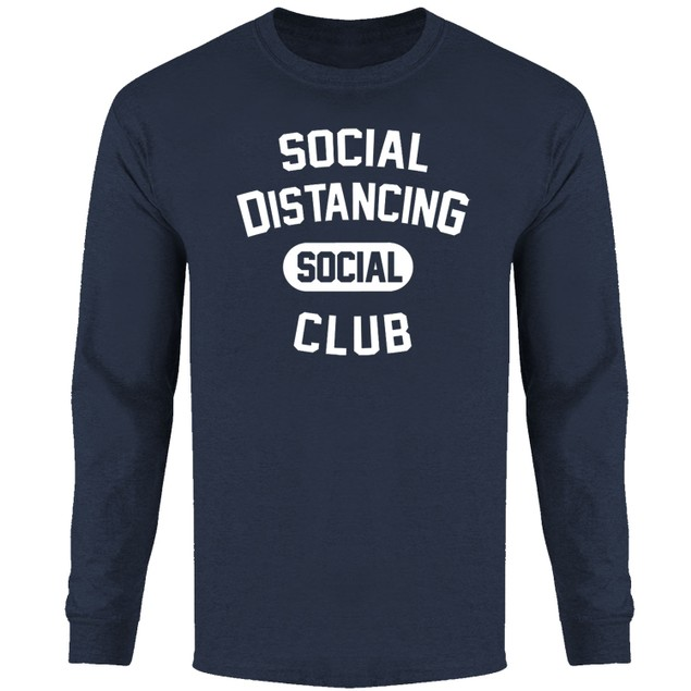 Men's Hilarious Social Distancing Long Sleeve Shirts