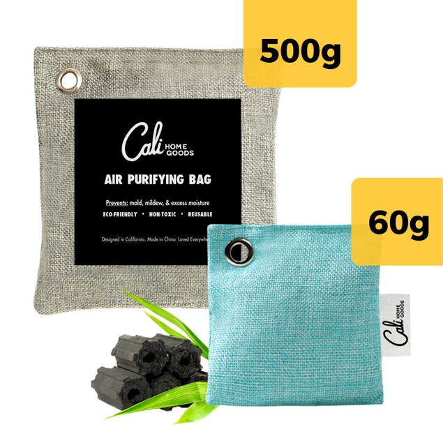 4-Pack California Home Goods Bamboo Charcoal Odor Absorber Bags