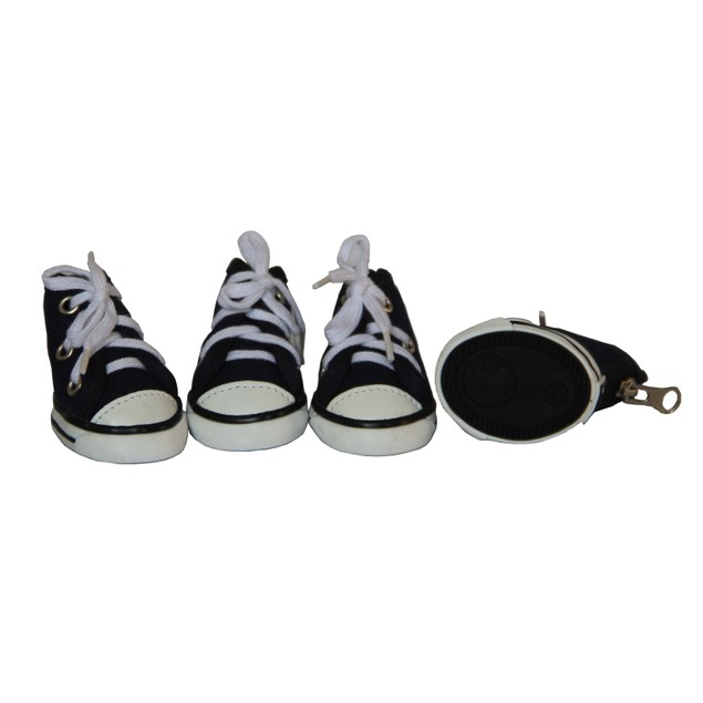 Extreme-Skater Canvas Casual Grip Pet Sneaker Shoes - Set Of 4