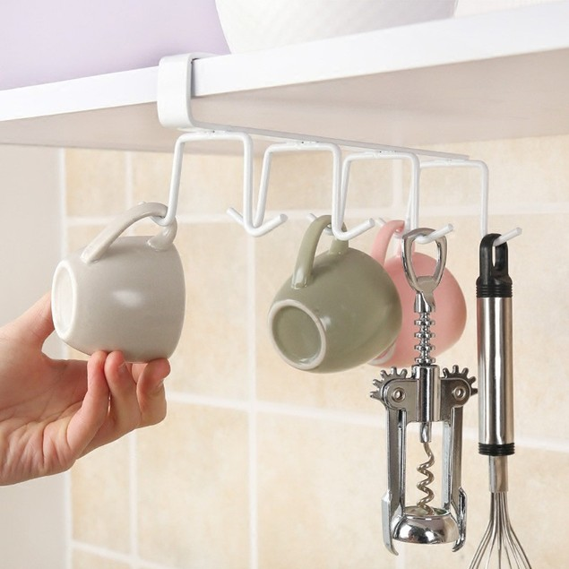 Kitchen Hanging Hook Cupboard Storage Rack Organizer Holder