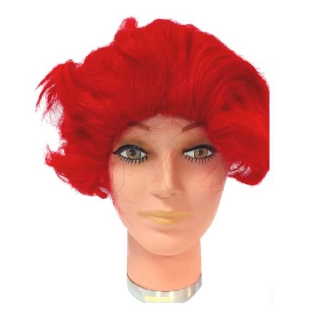 Ronald McDonald Wig  Red Clown McDonald's Wavy Costume Mens Halloween Adult