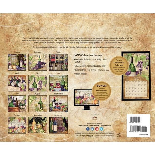 Wine Country Wall Calendar, Wine, Beer & Spirits by Calendars