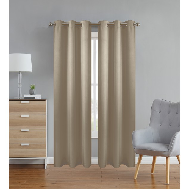 Kingston Lane Thermal Insulated Grommet Blackout Curtains for Bedroom