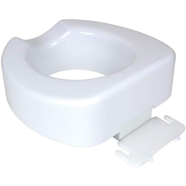 "Carex Raised Toilet Seat w/ Patented Quick-Lock, Adds 4"" to Toilet Height,"
