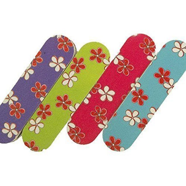 Sandpaper Nail File Manicure & Pedicure sponge Set Floral Hawaiian