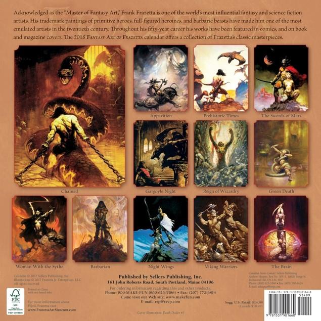 Frazetta Fantasy Art Wall Calendar, Fantasy Art by Calendars