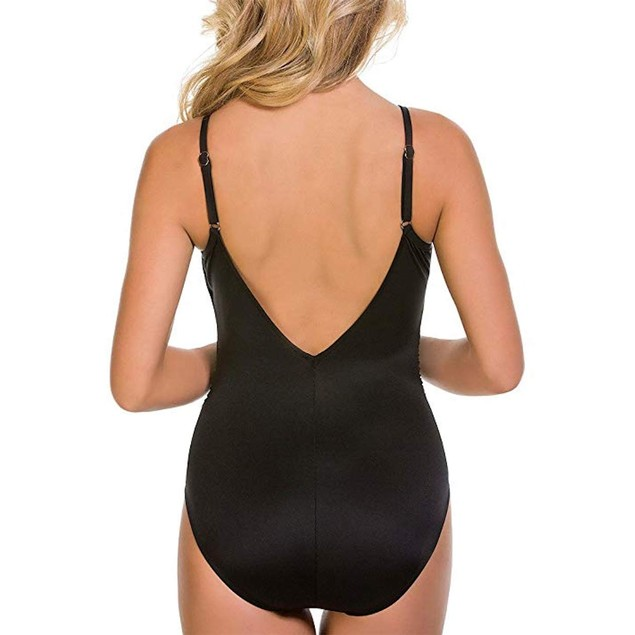 Magicsuit Women's Solids Allie One-Piece Black Swimsuit 16