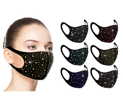 6-Pack: Rhinestone Bling Face Mask Was: $19.99 Now: $15.99