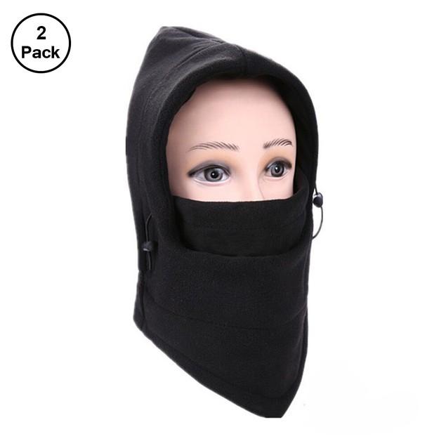 2 Pack Full Cover Fleece Winter Mask - 3 Colors