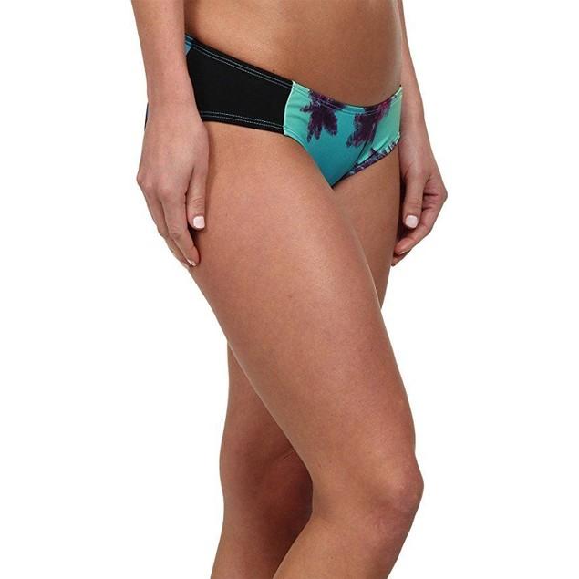 CARVE Designs Women's Bolinas Bottom Palms w/Black Swimsuit Bottoms SZ