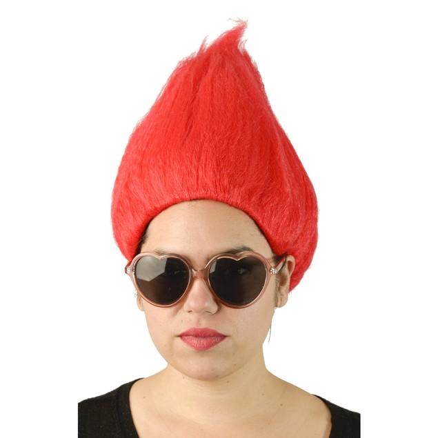 Red Adult Troll Wig Gnome Clown Doll Costume Sports Team Fun Dr. Seuss 90's