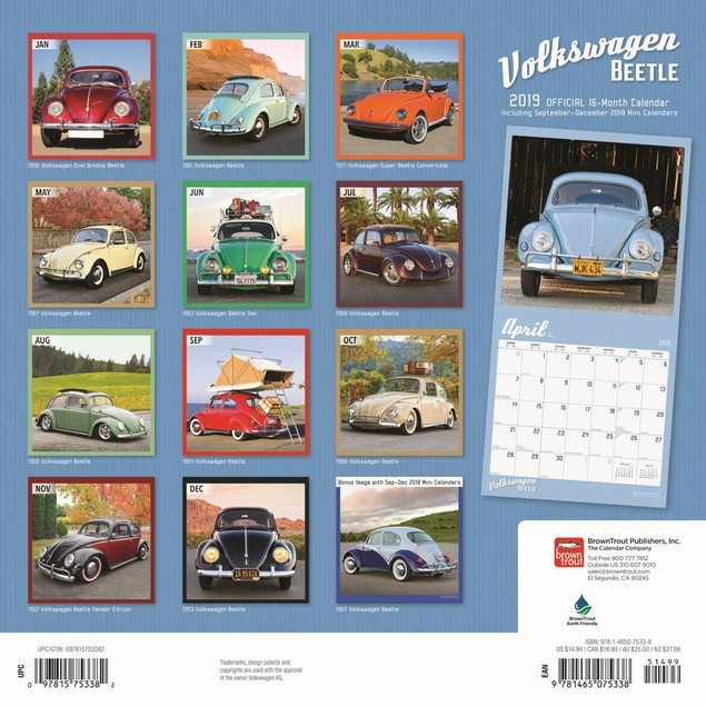 Volkswagen Beetle Wall Calendar, Cars by Calendars