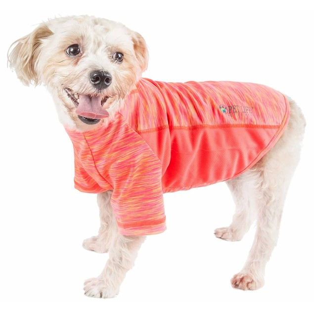 Pet Life Active 'Warf Speed' Ultra-Stretch Sporty Performance Dog T-Shirt