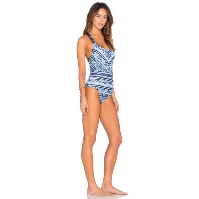Nanette Lepore Women's Santorini Scallop Goddess One Piece SIZE XS