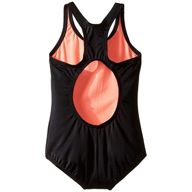 Nike Girl's Core Solids Racerback Tank Swimsuit  Sz:  7 Black