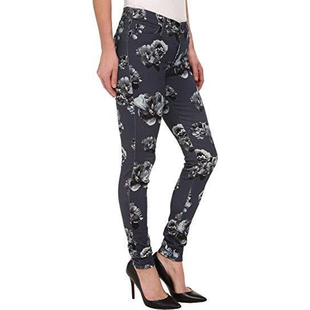 Hudson Women's Nico Mid Rise Super Skinny Jeans, Venice Bloom SIZE 26