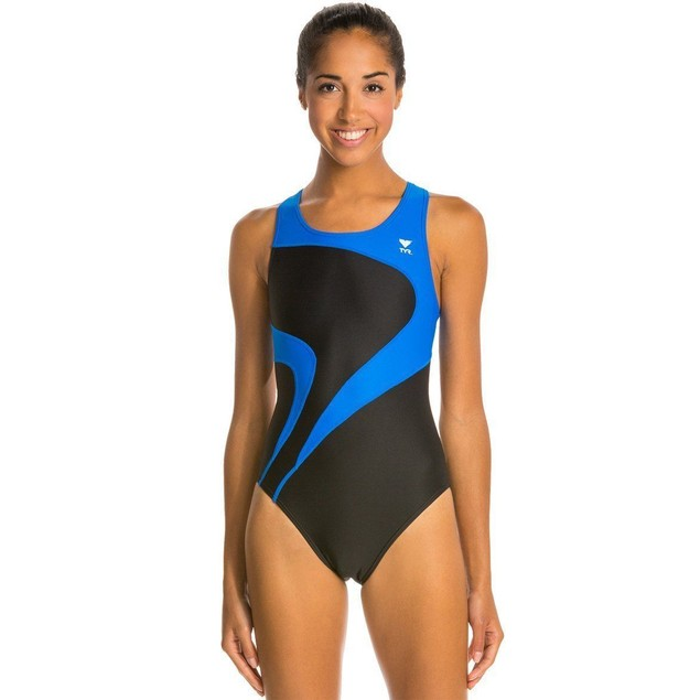 TYR Alliance T-Splice Maxback One Piece Swimsuit BLACK MALIT1A SIZE 38