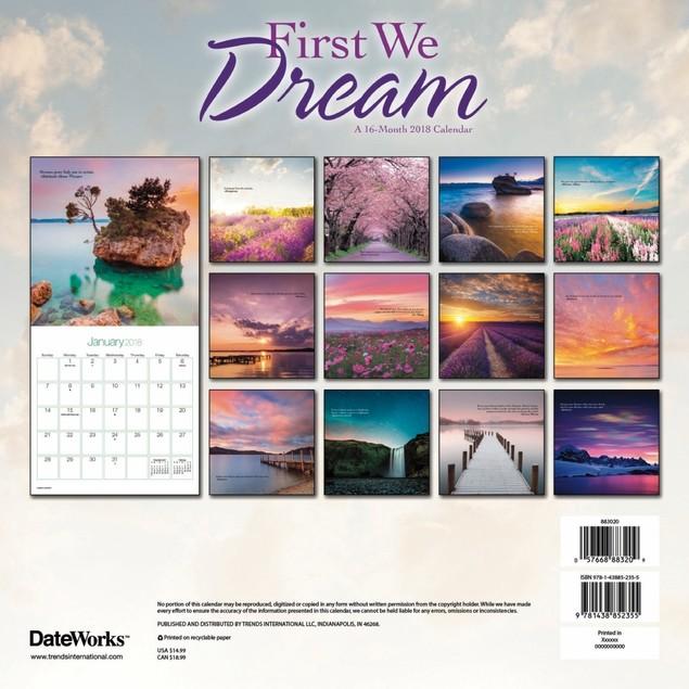 First We Dream Wall Calendar, More Inspiration by Calendars