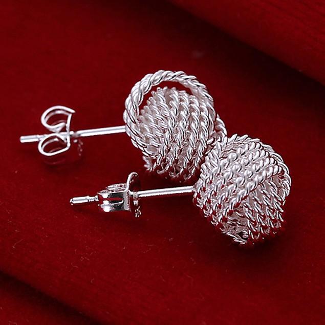 Women Fashion Mesh Ball Elegant Earrings