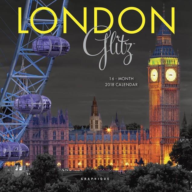 London Glitz Mini Wall Calendar, England by Calendars