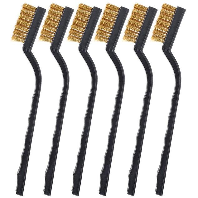 12 Pcs Mini Brass Wire Bristle Brush Rust Removal Tool