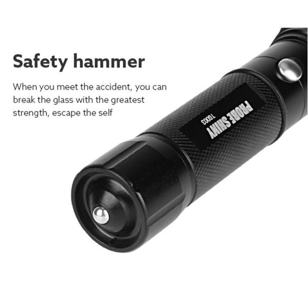 X800 Zoomable XML T6 LED Tactical Flashlight+18650 Battery+Charger+Case