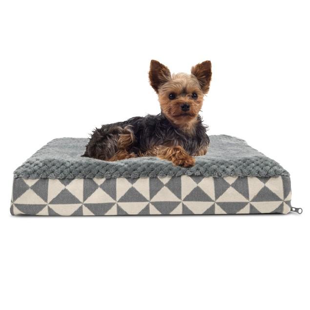 FurHaven Plush Top Kilim Deluxe Memory Foam Pet Bed